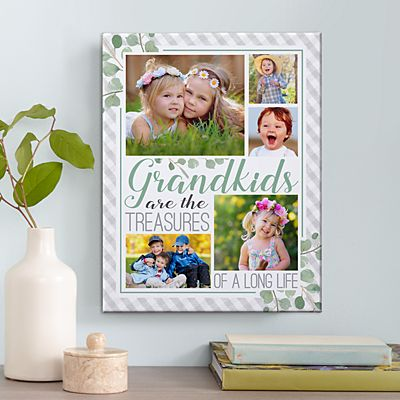 Grandkids Are Treasures Photo Canvas