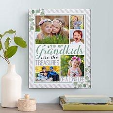 Grandkids Are Treasures Photo Canvas