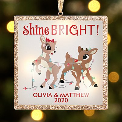 TwinkleBright™ LED Shine Bright Rudolph®  Bauble