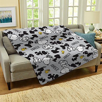 PEANUTS® All Over Snoopy™ Pattern Plush Blanket