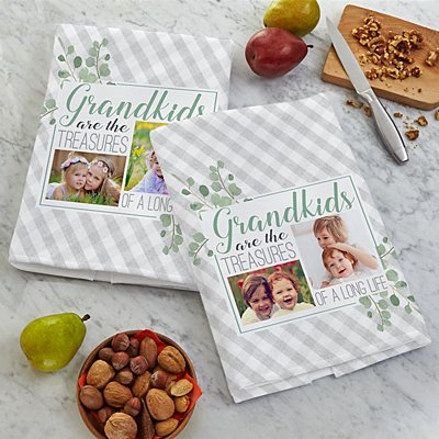 Grandkids Are Treasures Photo Tea Towel