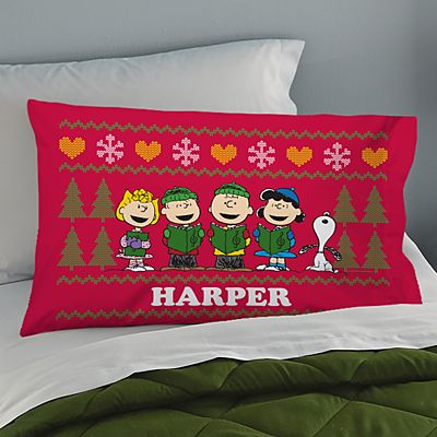 PEANUTS® Christmas Sweater Pillowcase