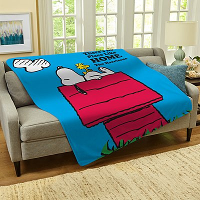 PEANUTS® No Place Like Home Plush Blanket