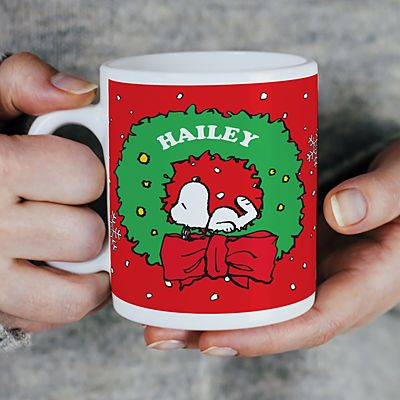 PEANUTS® Snoopy™ Holiday Wreath Mug