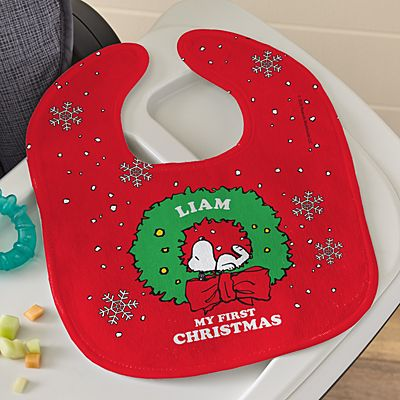 PEANUTS® Snoopy™ My First Christmas Holiday Bib