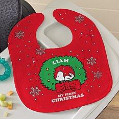 PEANUTS® Snoopy™ My First Christmas Holiday Bib