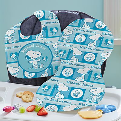 PEANUTS® Sweet Baby Snoopy™ Bib & Burp Cloth Set