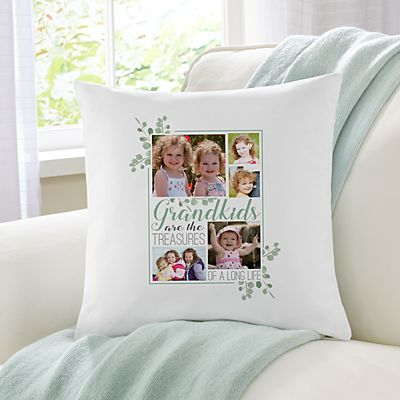 Grandkids Are Treasures Photo Throw Pillow