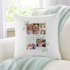 Grandkids Are Treasures Photo Throw Pillow