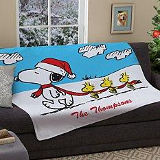 PEANUTS® Winter Fun Snoopy™ & Woodstock™ Plush Blanket