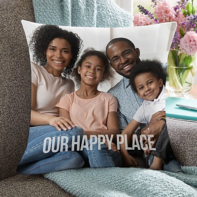 Any Message Photo Pillow