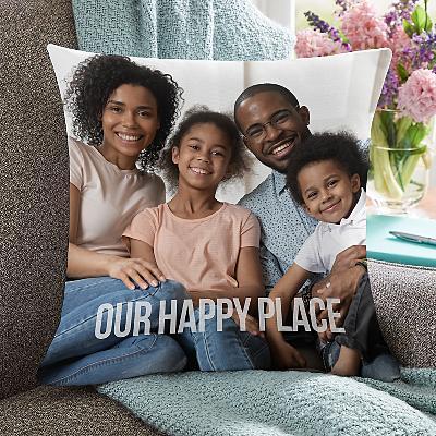 Any Message Photo Cushion