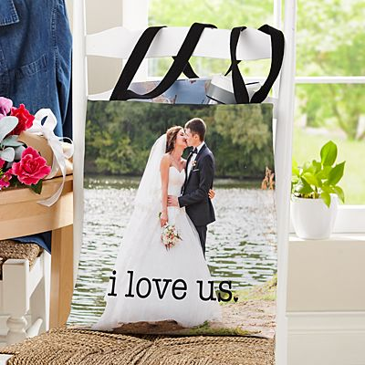 I Love Us Wedding Photo Tote