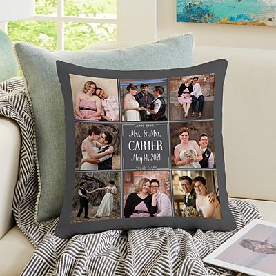 Our Best Day Ever Wedding Photo Pillow