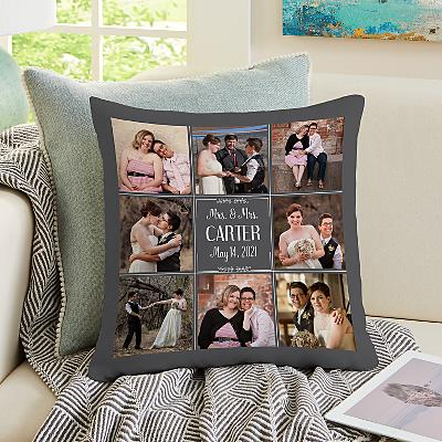 Our Best Day Ever Wedding Photo Cushion