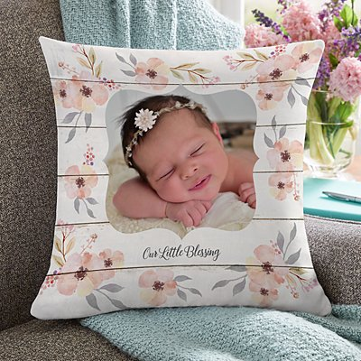 Our Little Blessing Photo Pillow