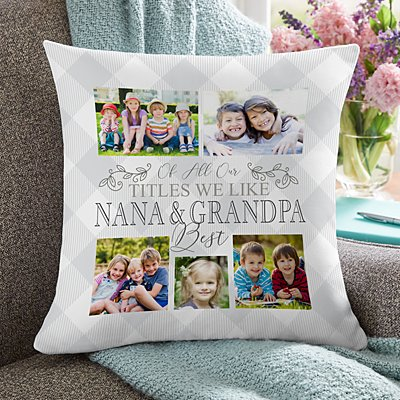 The Best Grandparents Photo Pillow