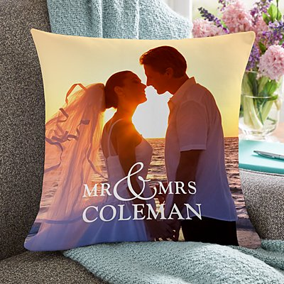 You & Me Wedding Photo Pillow