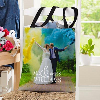 You & Me Wedding Photo Tote