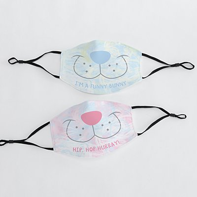 Cotton Candy Bunny Adult Face Mask