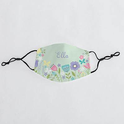 Springtime Flowers Kids Face Mask