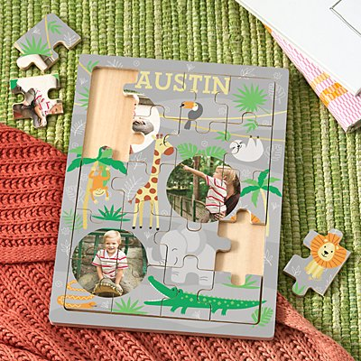 Jungle Friends Photo Wooden Puzzle