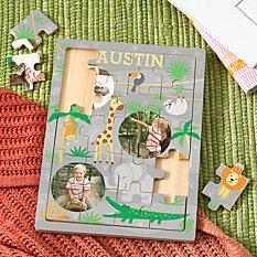Jungle Friends Photo Wooden Puzzle