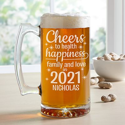 Cheers to a New Year Beer Mug