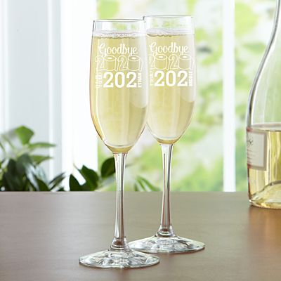 Goodbye 2020, Hello 2021 Champagne Flute