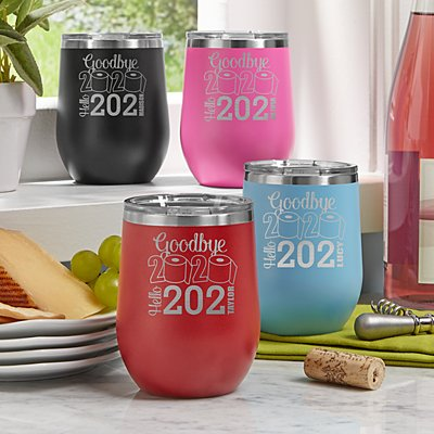 Goodbye 2020, Hello 2021 Wine Tumbler
