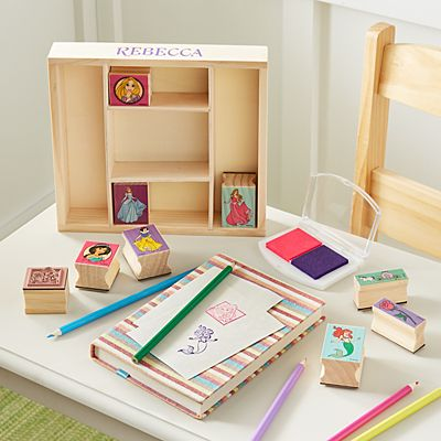 Melissa & Doug® Disney Princess Wooden Stamp Set