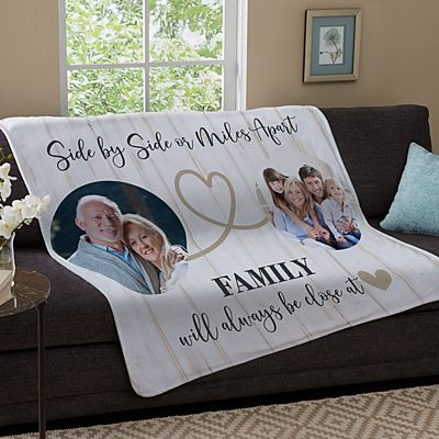 Miles Apart Photo Plush Blanket