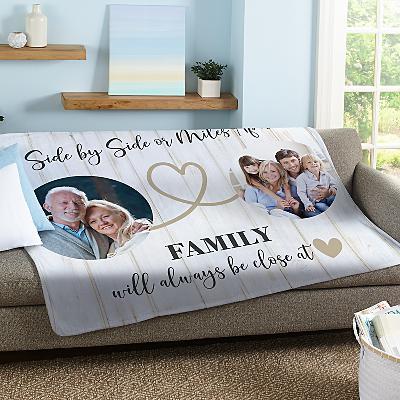Miles Apart Photo Plush Blanket