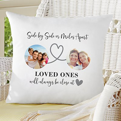 Miles Apart Photo Throw Pillow