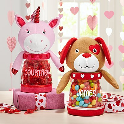 Loveable Friends Plush Candy Jars