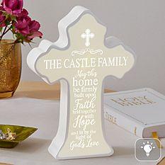Family of Faith Lighted Cross