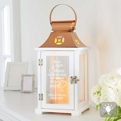 Your Light Shines Bright Memorial Lantern