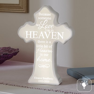 Loved Ones From Heaven Lighted Cross