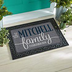 Modern Family Name Doormat