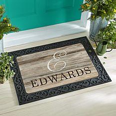 Oversized Initial Doormat