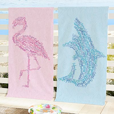 Name Art Beach Towel