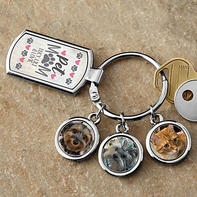 Pet Mom Photo Key Chain