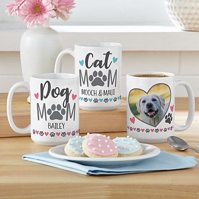 Pet Mom Photo 15oz Mug