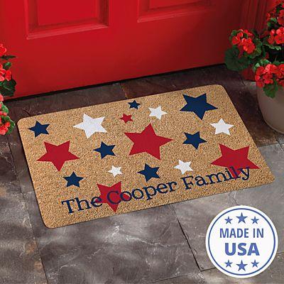 Red, White & Blue Doormat