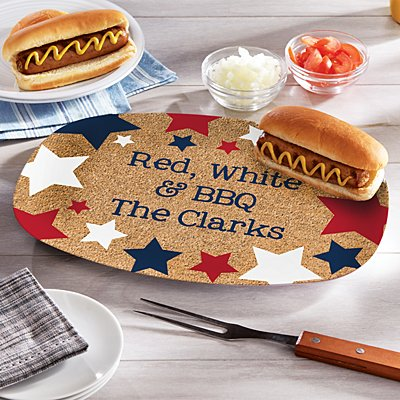 Red, White & Blue Platter