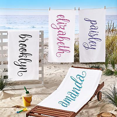 She Sparkles Beach Towel