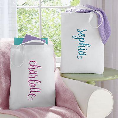 She Sparkles Tote Bag