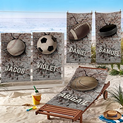 Sports Galore Beach Towel