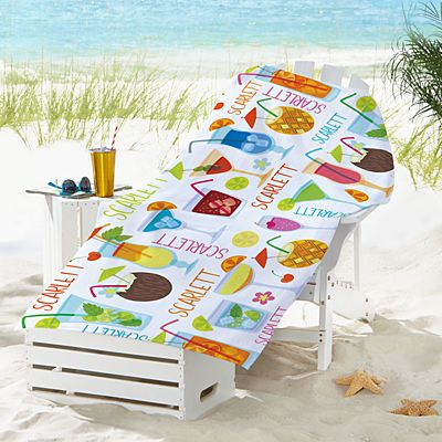 Summer Sips Beach Towel