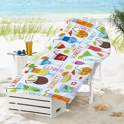 Summer Sips Beach Towel
